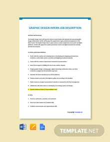 Free Graphic Design Intern Job Description Template