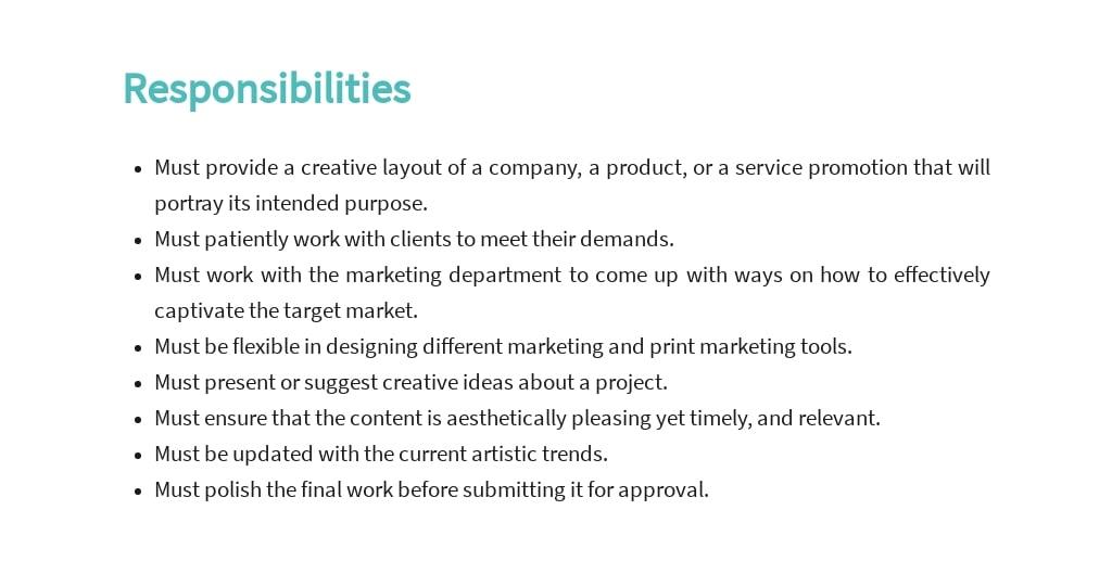 Free Graphic Design Artist Job Description Template 3.jpe