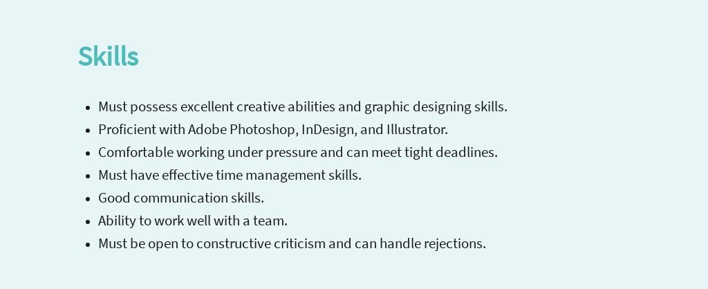 Free Graphic Design Artist Job Description Template 4.jpe