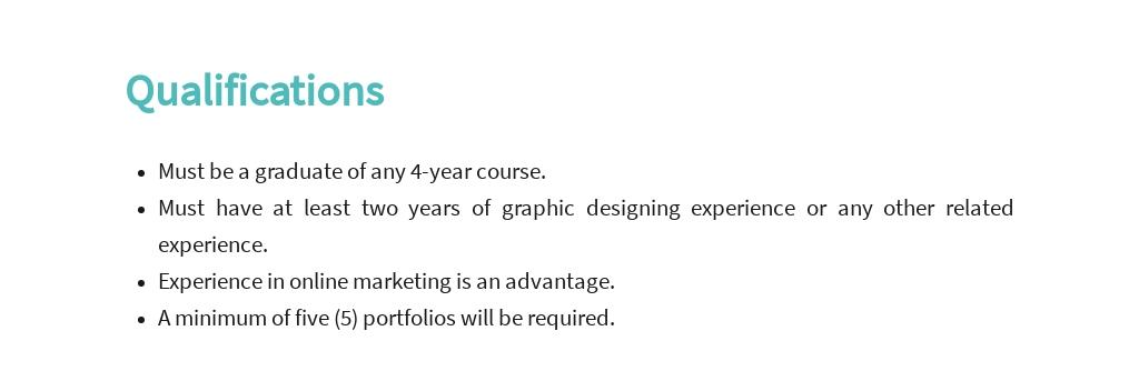 Free Graphic Design Artist Job Description Template 5.jpe