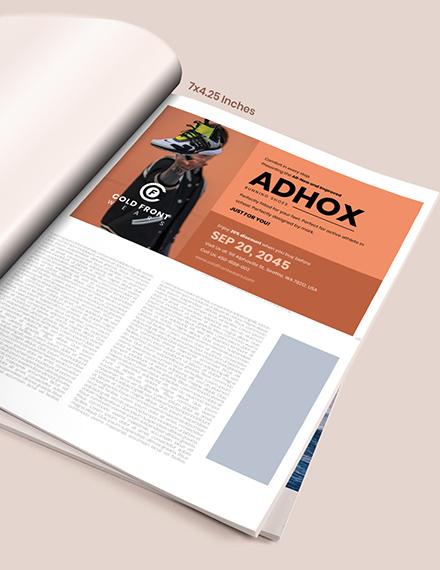 School Sports Magazine Ads Example