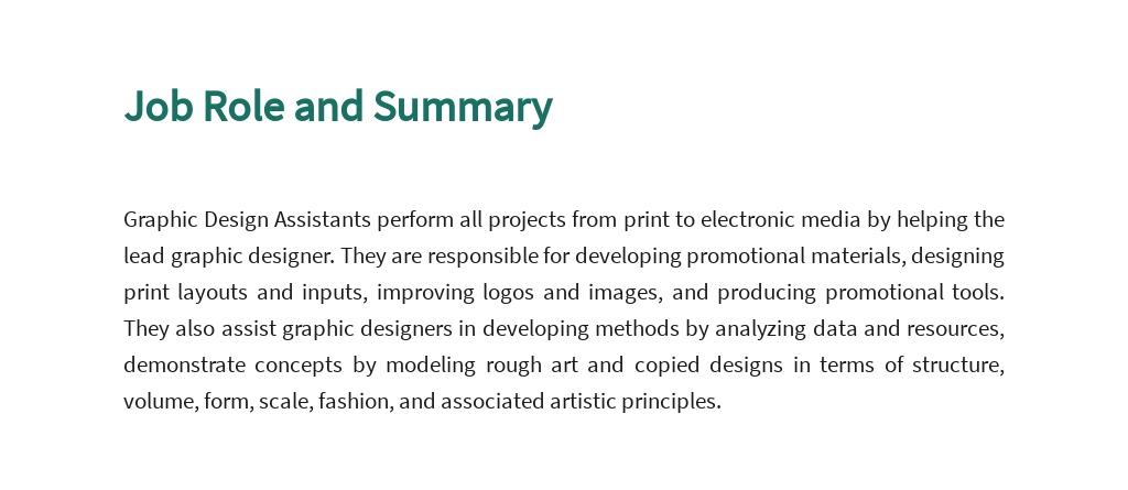 FREE Graphic Design Assistant Job Description Template 2.jpe