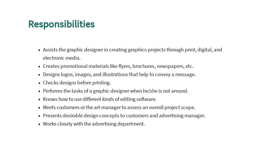 FREE Graphic Design Assistant Job Description Template 3.jpe