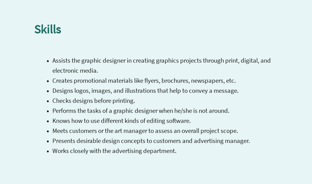 FREE Graphic Design Assistant Job Description Template 4.jpe