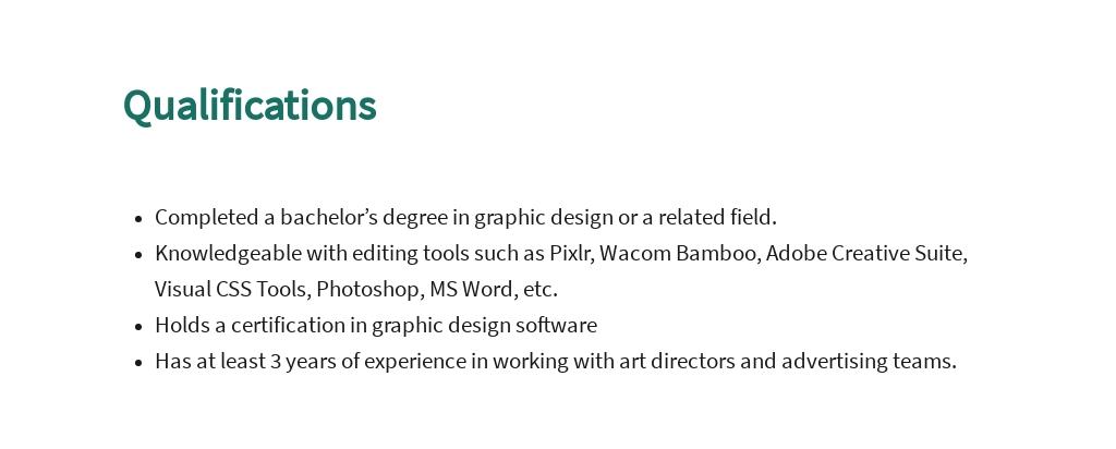 FREE Graphic Design Assistant Job Description Template 5.jpe