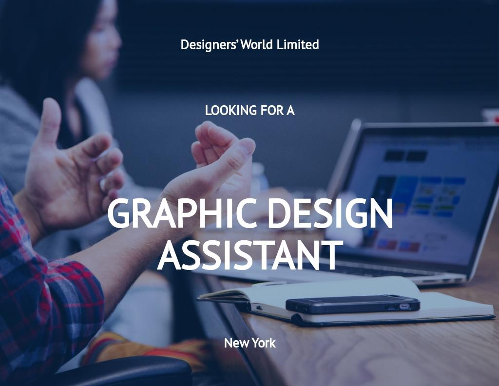 FREE Graphic Design Assistant Job Description Template.jpe
