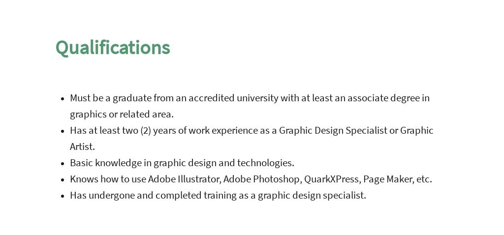 Free Graphic Design Specialist Job Description Template 5.jpe