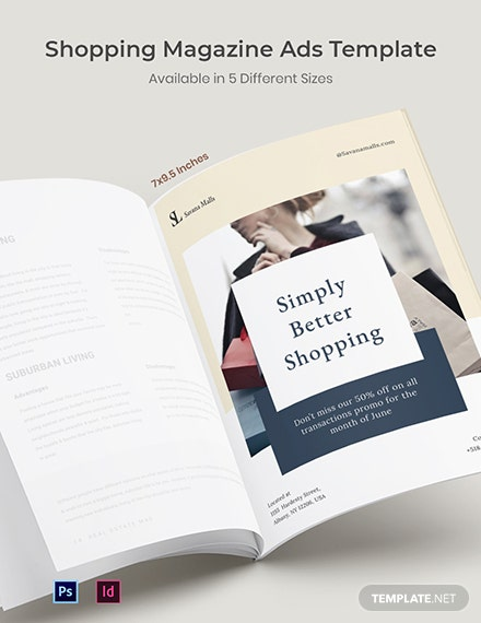 Free Shopping Magazine Ads Template