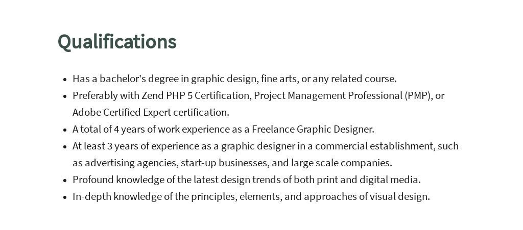 Free Freelance Graphic Designer Job Description Template 5.jpe