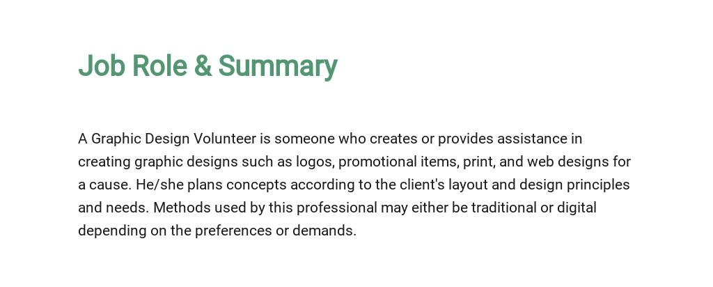 Free Graphic Design Volunteer Job Description Template 2.jpe