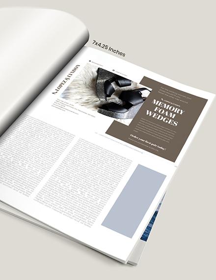 Simple Fashion Magazine Ads Example