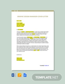 Free Graphic Design Manager Cover Letter Template