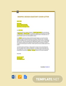 Free Graphic Design Assistant Cover Letter Template