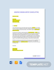 Free Graphic Design Artist Cover Letter Template