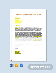 Free Graphic Design Intern Cover Letter Template