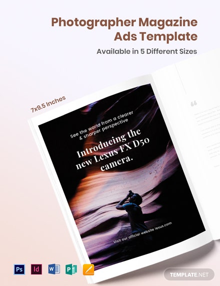 Free Photographer Magazine Ads Template