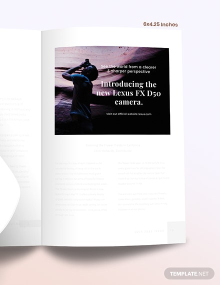 Sample Photographer Magazine Ads