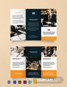 Blank Trifold Brochure Template
