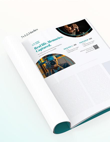 Photographer Princing Magazine Ads Template
