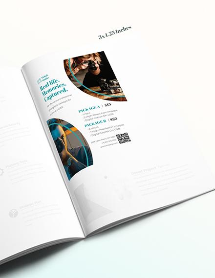 Simple Photographer Princing Magazine Ads