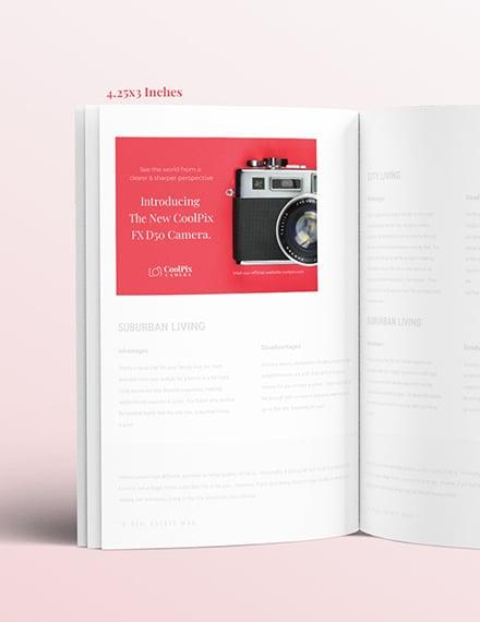 Editable Photography Product Magazine Ads