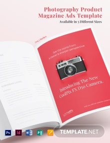 Free Photography Product Magazine Ads Template