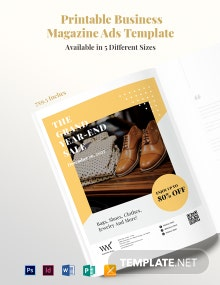 Free Printable Business Magazine Ads Template