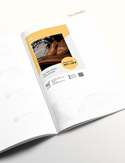 Printable Business Magazine Ads Template
