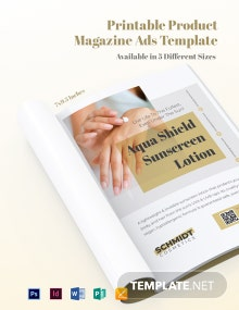 Free Printable Product Magazine Ads Template