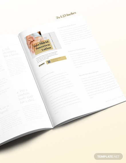 Printable Product Magazine Ads Download