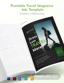 Free Printable Travel Magazine Ads Template