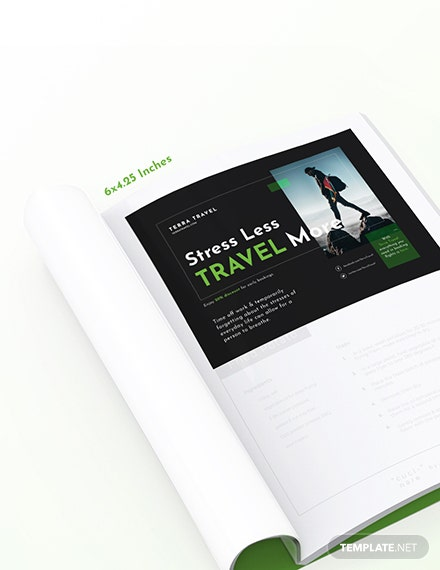 Printable Travel Magazine Ads Template
