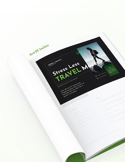 Printable Travel Magazine Ads Template
