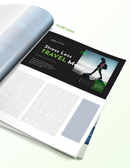 Sample Printable Travel Magazine Ads