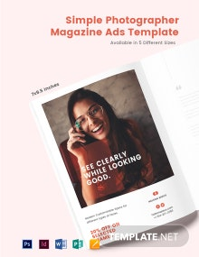 Free Simple Magazine Ads Template