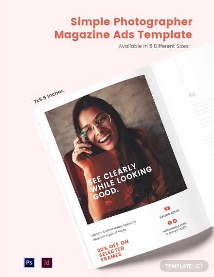 simple magazine ads