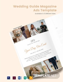 Free Wedding Guide Magazine Ads Template