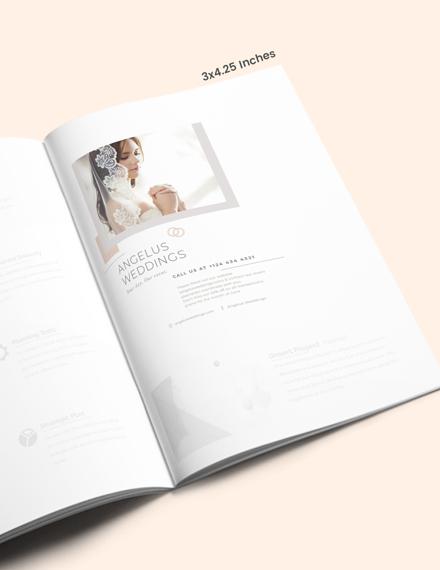 Simple Wedding Layout Magazine Ads