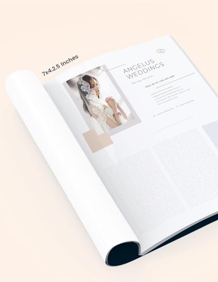 Wedding Layout Magazine Ads Template