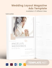 Free Wedding Layout Magazine Ads Template