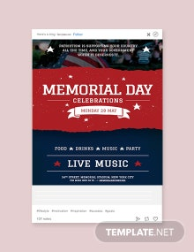 Free Memorial Day Tumblr Post Template
