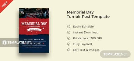 Memorial Day Tumblr Post Template
