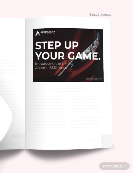 Sample Simple Product Magazine Ads
