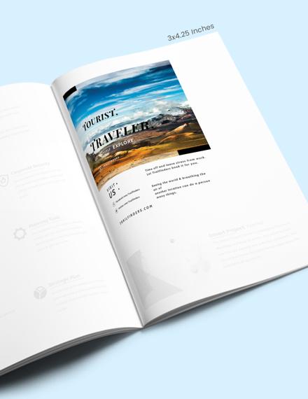 Simple Travel Magazine Ads Template