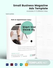 Small Business Magazine Ads Template