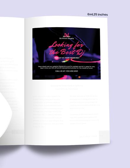 Sample Wedding DJ Magazine Ads
