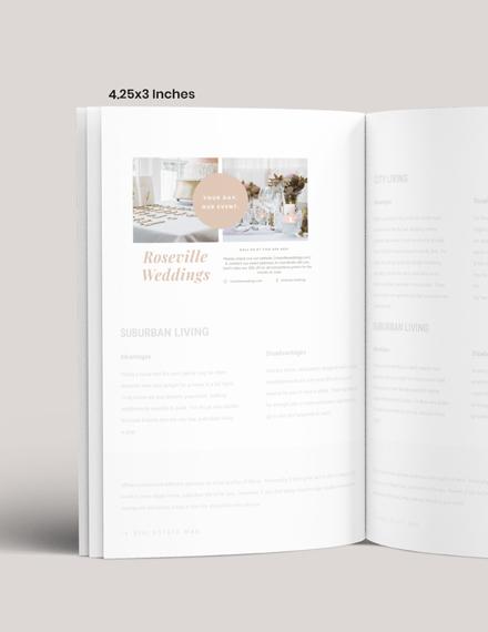 Simple Wedding Event Magazine Ads