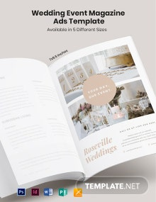 Free Wedding Event Magazine Ads Template