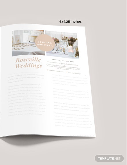 Wedding Event Magazine Ads Template