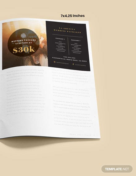 Simple Wedding Package Magazine Ads